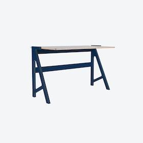 VOLT Desk in Night Blue w/ Dusty Grey Top