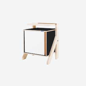 FRAME Night Table in Inky Black w/ Transparent Orange Screen