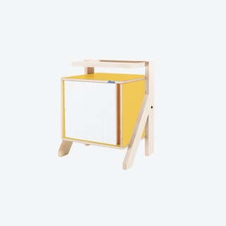 FRAME Night Table in Canary Yellow w/ Transparent Orange Screen