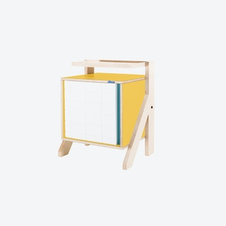 FRAME Night Table in Canary Yellow w/ Transparent Blue Screen