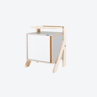 FRAME Night Table in Dusty Grey w/ Transparent Orange Screen