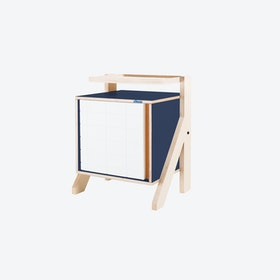 FRAME Night Table in Night Blue w/ Transparent Orange Screen