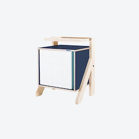 FRAME Night Table in Night Blue w/ Transparent Blue Screen