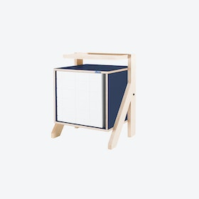 FRAME Night Table in Night Blue w/ Transparent Grey Screen