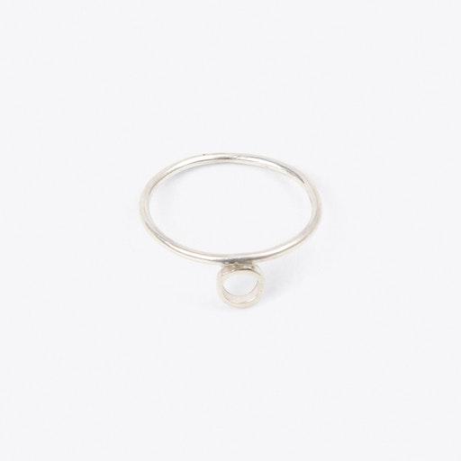 Midi Ring Circle in Silver
