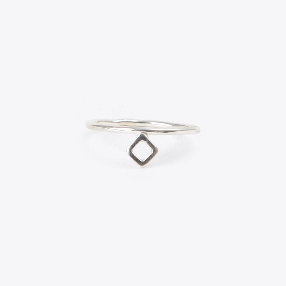 Midi Ring Rombo in Silver