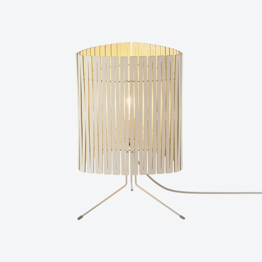 T3 Table Lamp - White Wash