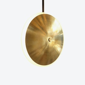 Chrona Dish V Pendant Lamp - Brass