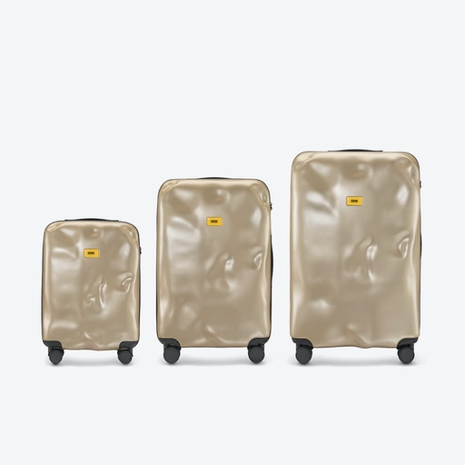 ICON Luggage 3 Piece Set in Metal Gold