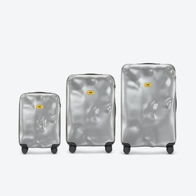 ICON Luggage 3 Piece Set in Metal Silver