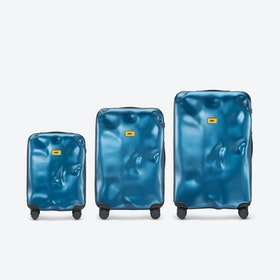 ICON Luggage 3 Piece Set in Metal Blue