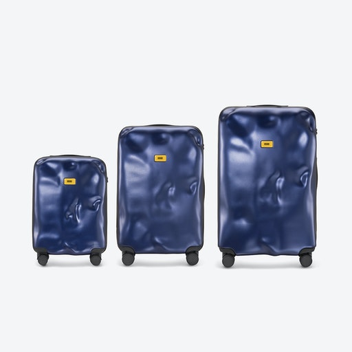 ICON Luggage 3 Piece Set in Metal Navy