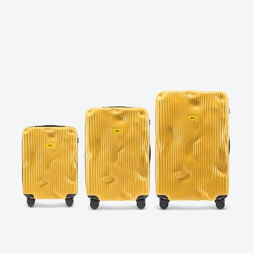 STRIPE Luggage 3 Piece Set in Yellow