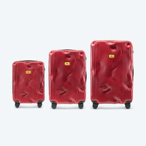 STRIPE Luggage 3 Piece Set in Red