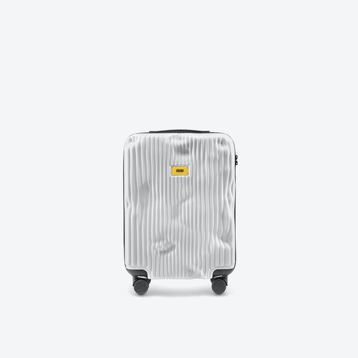 STRIPE Cabin Luggage in White