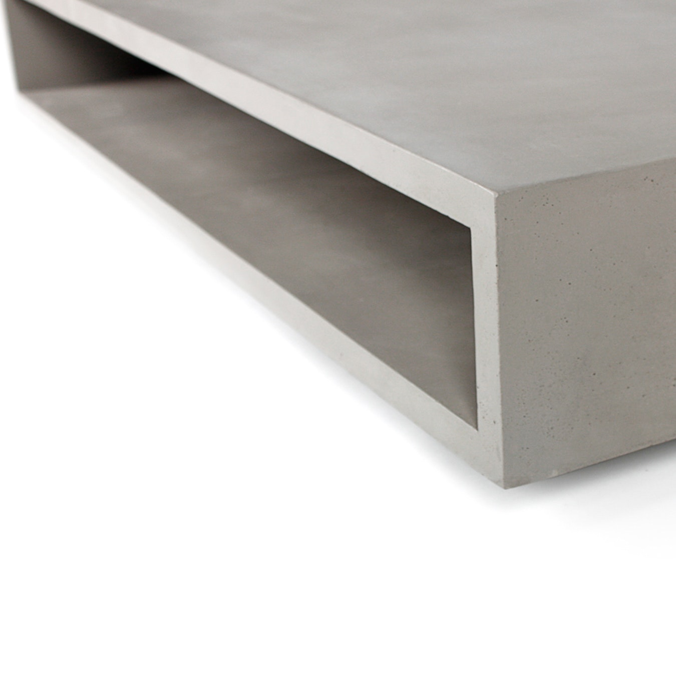 Concrete Monobloc Coffee Table W Metal Legs By Lyon Beton Fy