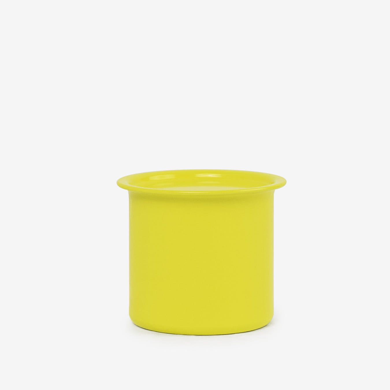 0.5L Ayasa Coloured Jar w/ Metal Lid - Yellow