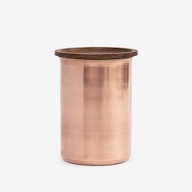 0.75L Ayasa Jar w/ Wooden Lid - Copper