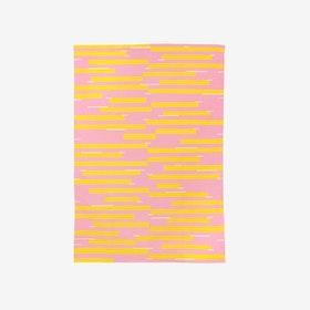 Jamakhan Stripe Handwoven Rug - Pink