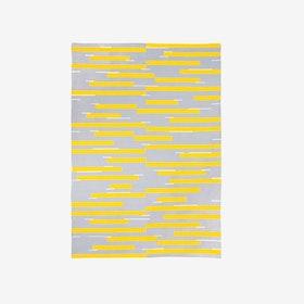 Jamakhan Stripe Handwoven Rug - Grey