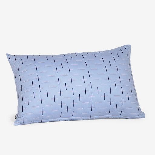Kantha Stitch 2 Quilted Cushion - Powder Blue