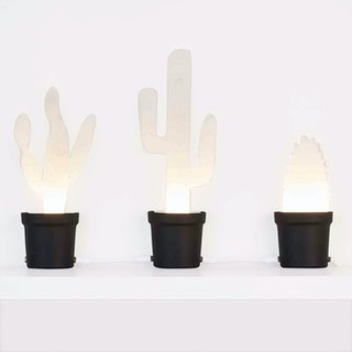 Cactus LED Light - Black (set of 3)