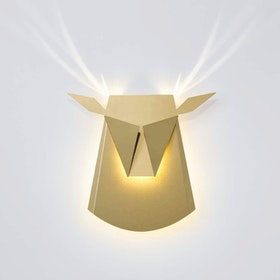 Deer Head LED Light - Gold
