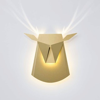 Deer Head LED Light - Gold