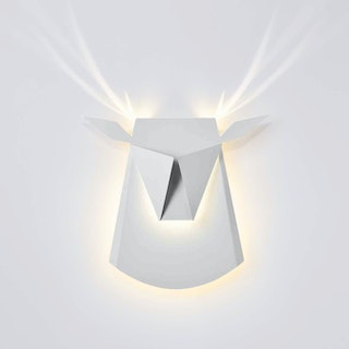 Deer Head LED Light - White