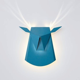 Deer Head LED Light - Blue