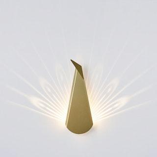 Peacock LED Light - Gold