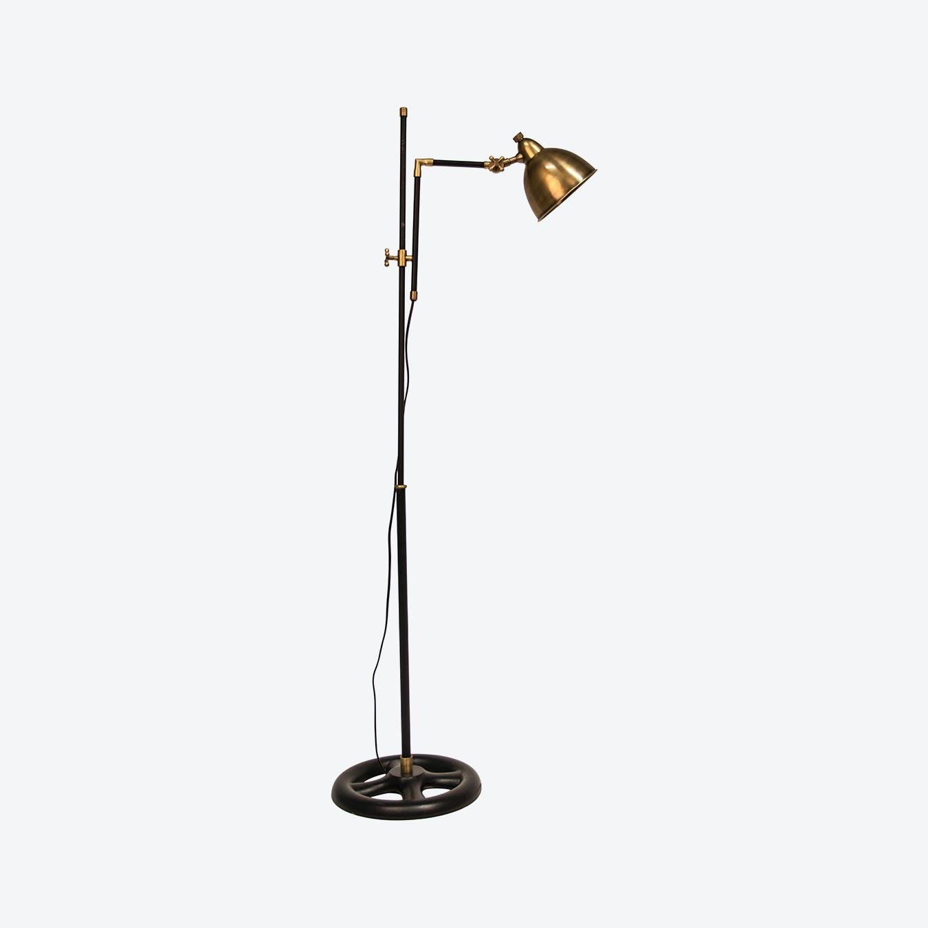 Classic Restoration Floor Lamp in Bronze/Black