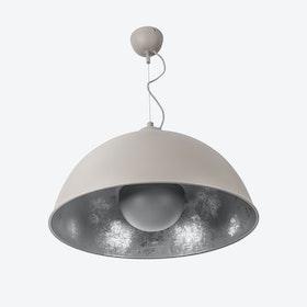 Concrete Sun Pendant Lamp in Concrete/Silver