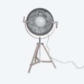 Concrete Sun Table Lamp in Concrete/Silver