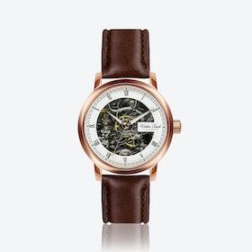 Heppenheim Watch w/ Dark Brown Leather Strap
