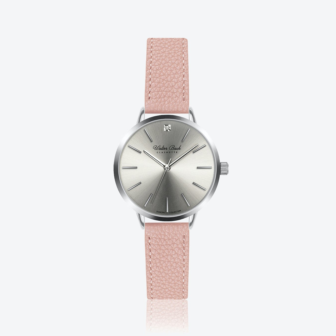 Fussen Watch w/ Lychee Pink Leather Strap