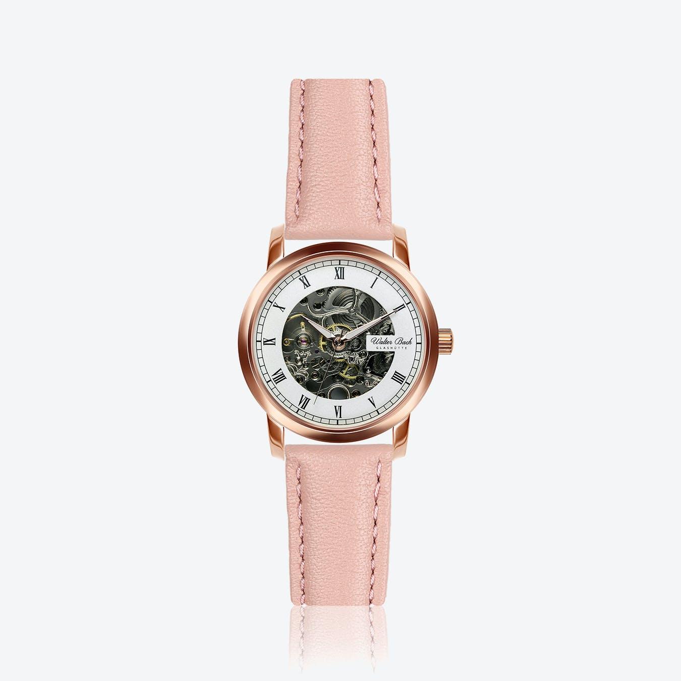 Nuremberg Watch w/ Lychee Pink Leather Strap