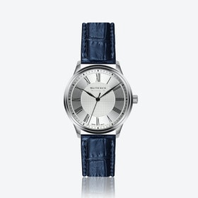 Cochem Watch w/ Croco Blue Leather Strap