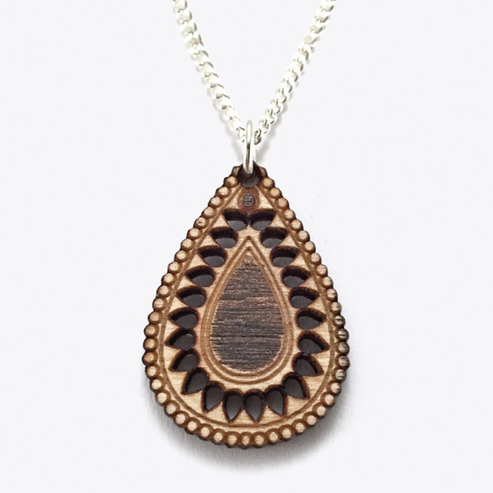 Pani Necklace in Wood