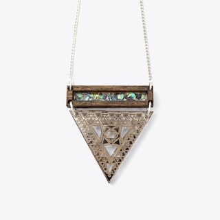 Trikon Necklace in Wood & Rose Gold