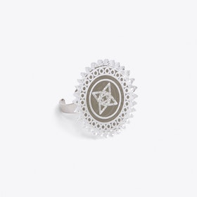 Faceted Surya ring silver