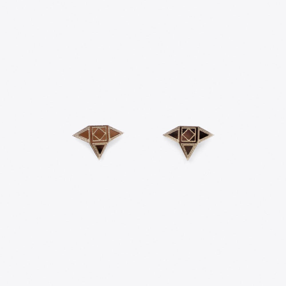 Rani Studs in Rose Gold