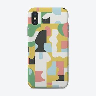 Organic Matisse Blocks Pink Mustard Phone Case