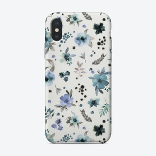 Countryside Watercolor Floral Blue Phone Case