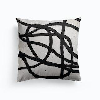 Scandinavian Marker Line 3 Canvas Cushion