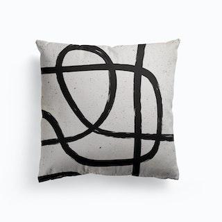 Scandinavian Marker Line 1 Canvas Cushion