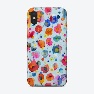 Bohemian Naive Flowers Blue Phone Case