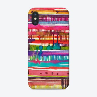 Irregular Watercolor Lines Phone Case