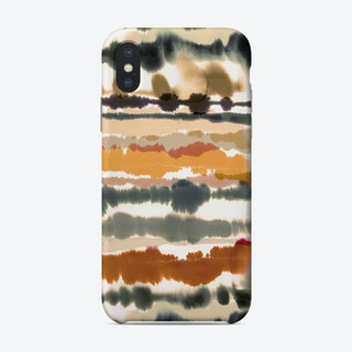 Soft Nautical Watercolor Lines Brown Phone Case