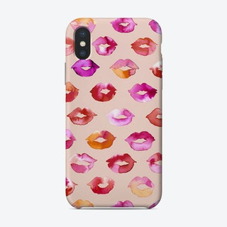 Sweet Love Kisses Pink Lips Phone Case